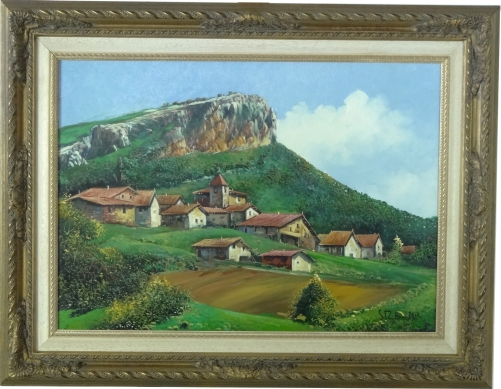 Basque landscape painting 19 006 - Cuadros con fotos ...